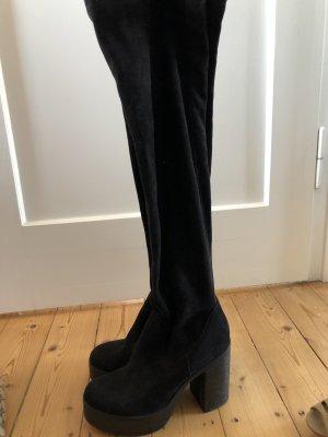 Deichmann Platform Boots black