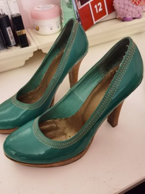 Blend Platform Pumps cadet blue polyester