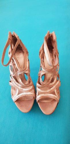 Plateau Pumps heels guess golden beige 38
