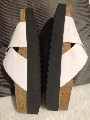Shoe the Bear Plateauzool sandalen zwart-wit