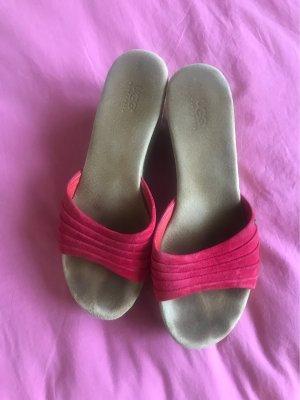 UGG Australia Sandales à plateforme rouge