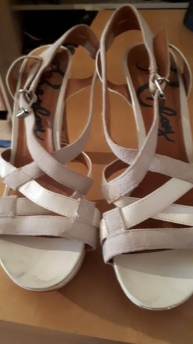 Replay Sandalias de tacón con plataforma blanco-gris claro