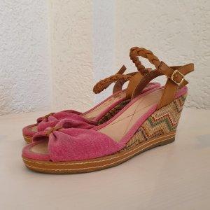 Görtz 17 Sandalias de tacón con plataforma camel-magenta