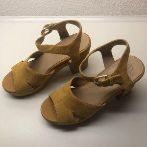 Vagabond Platform Sandals neon yellow suede