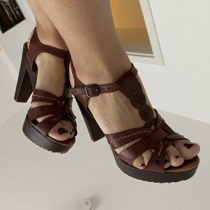 By Sasha Platform High-Heeled Sandal brown-dark brown