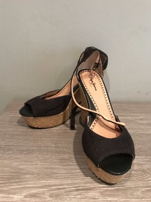 Pepe Jeans London Plateauzool sandalen zwart