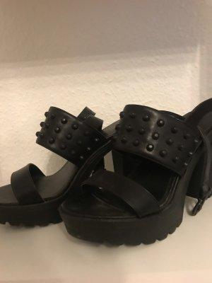 Catwalk Plateauzool sandalen zwart