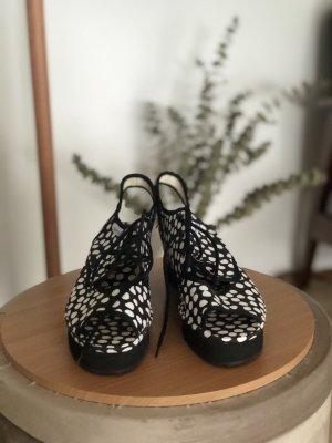 Platform Sandals black-white