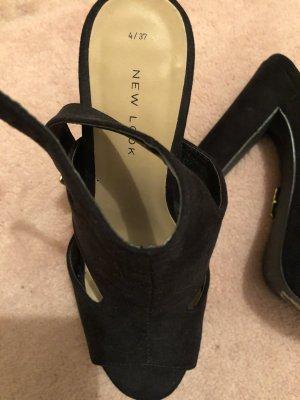Plateau Sandalen high heels schwarz 37 New Look