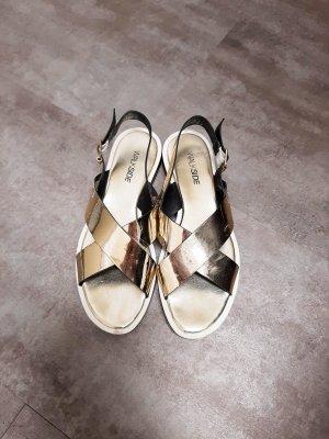 Sandalias con plataforma amarillo pálido Poliuretano