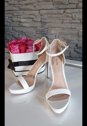 Aldo Platform Sandals white