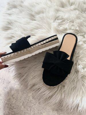Sandales à plateforme noir-beige