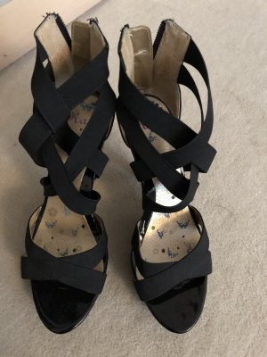 Plateau Sandalen schwarz 38 wie neu