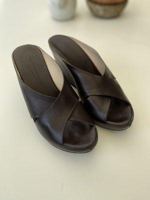 Attilio giusti leombruni Sandales à plateforme brun foncé cuir