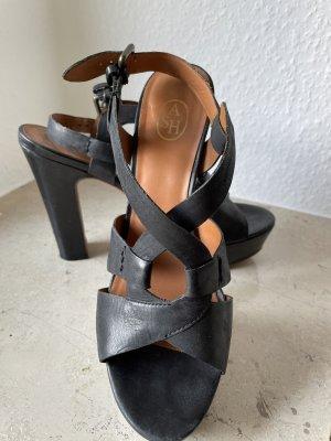 ASH Plateauzool sandalen zwart
