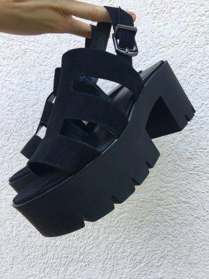 Bershka Platform Sandals black