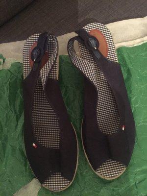 Tommy Hilfiger Plateauzool sandalen donkerblauw