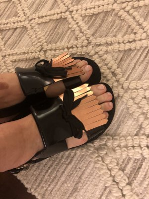 Kennel und Schmenger Platform High-Heeled Sandal black-rose-gold-coloured