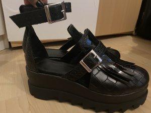 ohne Marke Wedge Sandals black