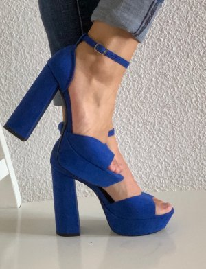 Even & Odd Strapped High-Heeled Sandals blue