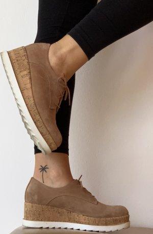Lace Shoes camel-white