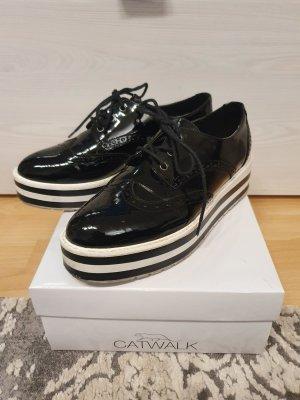 Catwalk Chaussures à lacets blanc-noir