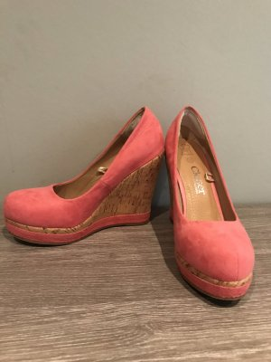 CLOSER BY Chaussea Plateauzool pumps roze