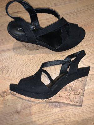 Graceland Escarpin à plateforme noir