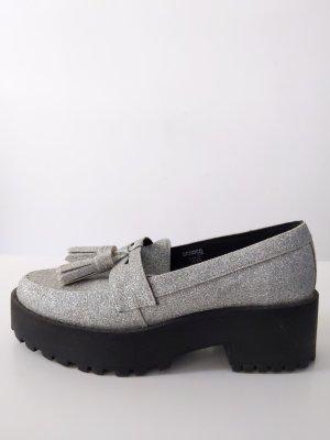 Plateau Sneaker / Flats • H&M • Glitzer • Größe 36