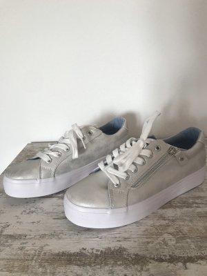 Plateau-Sneaker, NEU, Gr. 39, Silber/Grau