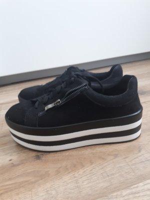 Plateau Sneakers 37.5 /38 Schwarz Weiß