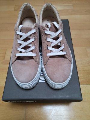 Martina Buraro Sneaker con zeppa bianco-rosa pallido