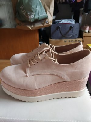 Wedge Sneaker natural white-pink mixture fibre