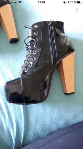 Platform Boots black-light brown