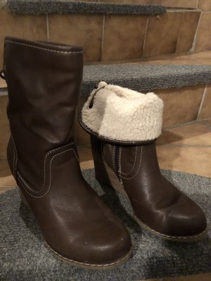 Platform Boots dark brown