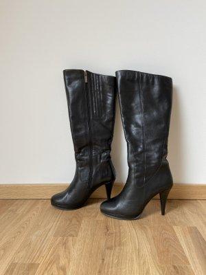 Plateau Stiefel Leder High Heels ca. 10cm