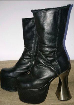 Luichiny Botte à plateforme noir-argenté cuir