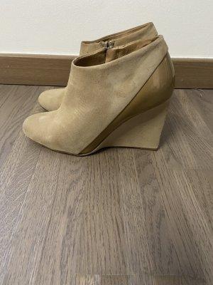 Chloé Platform Booties camel-ocher leather