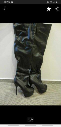 plateau stiletto high heel overknee stiefel