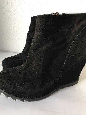 Görtz Shoes Stivale con plateau nero Pelle