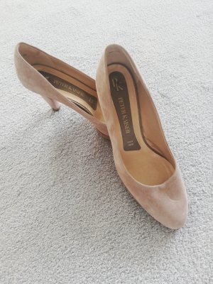 Peter Kaiser Platform Pumps camel leather
