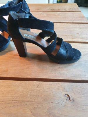 Paul Green Sandalias con plataforma negro Cuero
