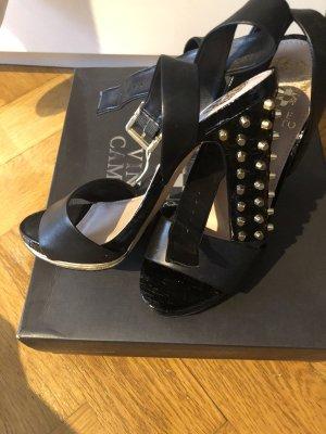 Vince Camuto Platform Sandals black leather