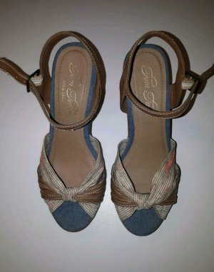 Tom Tailor Plateauzool Sandalen met Hoge Hakken veelkleurig