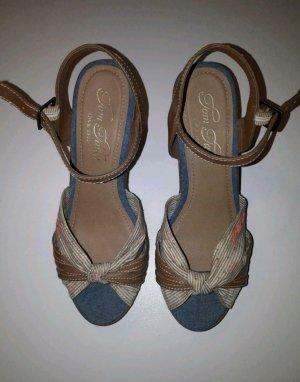 Tom Tailor Platform High-Heeled Sandal multicolored
