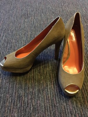 Varese High Heels beige-gold-colored