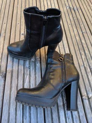 Catwalk Patucos con plataforma negro