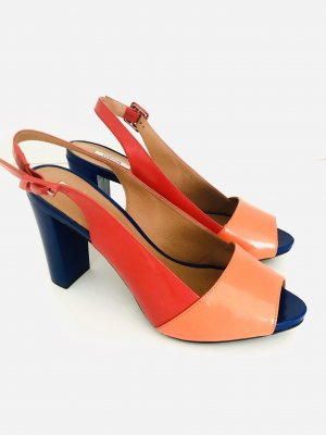 Geox Plateauzool sandalen veelkleurig Leer
