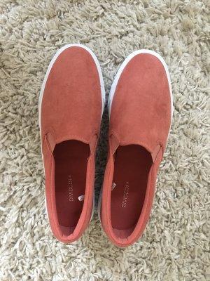 H&M Divided Sneaker slip-on rosso chiaro