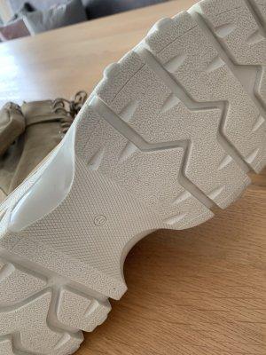 Bronx Platform Boots beige leather